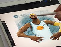 Basketball player ipadpro