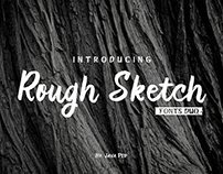 Rough Sketch - Duo fonts