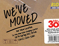 We've Moved Postcard & Poster