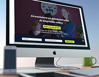 Landing page Administración de Empresas