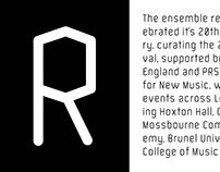 Piano Circus Custom Typeface