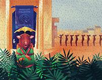 Transmedia animated illustration