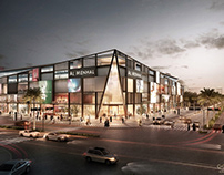 Two styles for Al Menhal shopping mall project