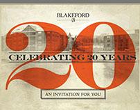Blakeford Health Anniversary Mailer Design