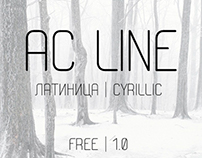 Presenting the FREE AC Line Font