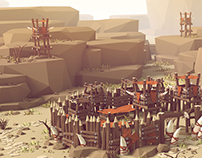 Orc Village (Low Poly Style)