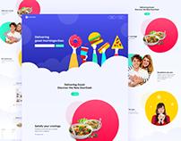 Doordash Food App Landing Page