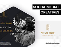 Social Media Creatives - Masala Bar