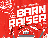 OAST HOUSE BREWERS - BARN RAISER POSTER