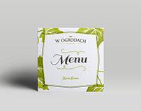 W Ogrodach - menu card
