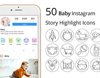 Baby Instagram Story Highlight Icons Pack