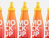 Sauce bottle - Mockup