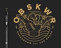 OBSKWR Surfboards - Logo + Tee Design