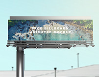 Free Billboard Animated Mockup
