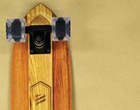 WHEELED | Handmade Hardwood Cruiser Skateboard