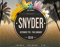 Snyder Event Flyer