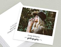 Square Polaroid Photographer Business Card Template