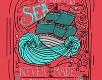 Sea Lettering Illustration