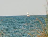 Sailboat in the walkway