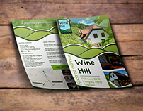 Wine Hill rest house flyer design