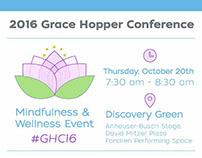 GHC16 Mindfulness & Wellness Event Graphics