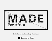 Made For Africa E-commerce Website (Coming Soon Page)