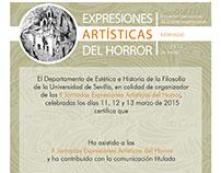 Cartelería Jornadas Expresiones Artísticas del Horror