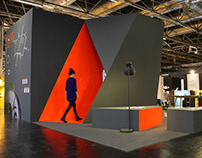 Messestand 'folded imaginations' imm cologne