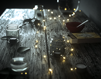 Fairy Light Table Render (Project File Included)