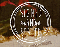 Signed & Sealed Invitations