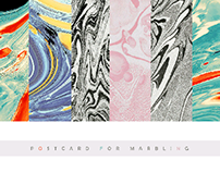 Marble postcard