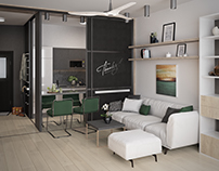 Visualization apartment in Budapest