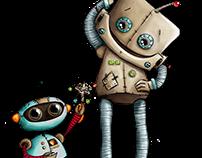 Roboter | Beep beep! | fabric design