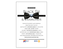 Black Tie and Diamonds Email and Program