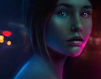 Night color - Digital art