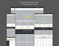 Constructing website wireframe