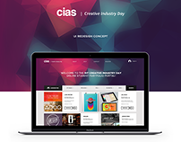 CIAS Creative Industry Day - UI Redesign Concept