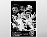 70Godina Sportsko Drushtvo Partizan-70years Partizan SO