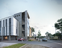 Viz white-glass-concrete building