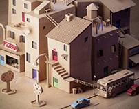 Cardboard neighborhood