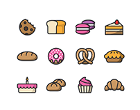35+ Best Bakery / Coffee Shop Icons