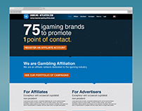 Gambling Affiliation landing page