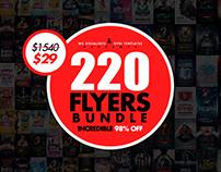 220 Massive Flyer Templates Bundle