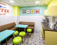 Canteen in retro style