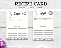 Free Cooking Recipe Card Template