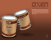 Oxen Wood Care packing design