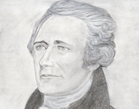 Irvin Goldman Drawing of Alexander Hamilton