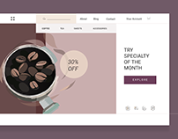 Coffee shop - concept of website