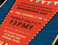 4th of July Retro BBQ Invite