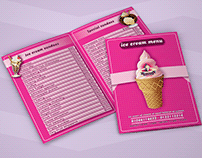 Ice creem menu